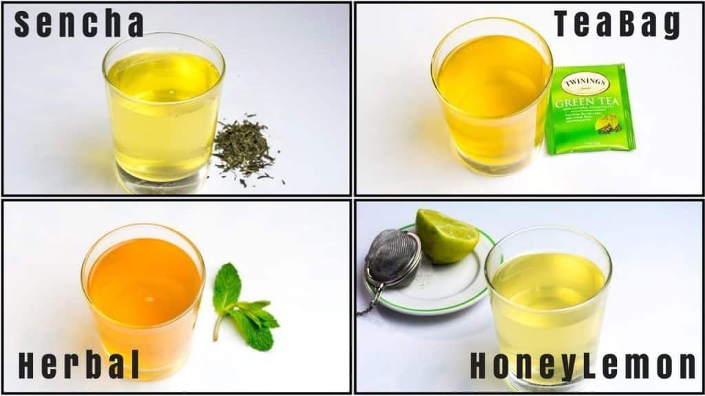 green tea  types
