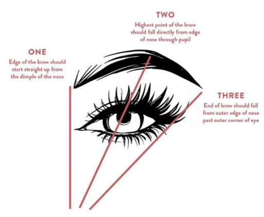 how to draw Korean eyebrows