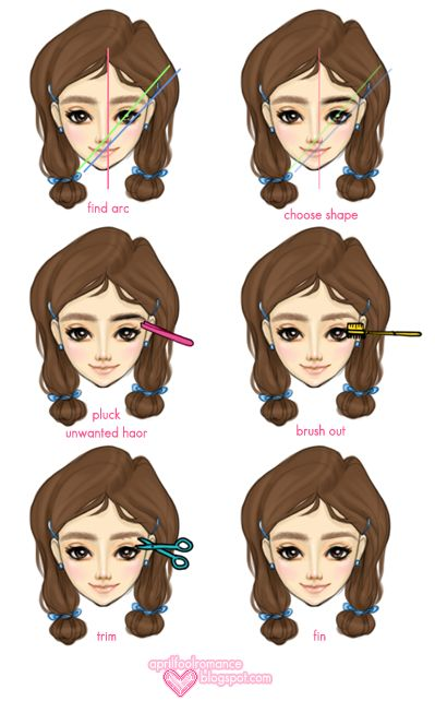 tips to draw korean eyebrow