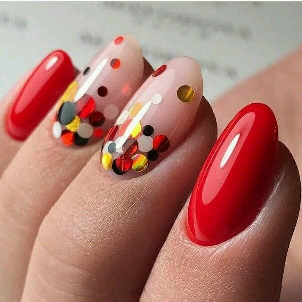 Dazzling Confetti like Mirror Nails Perfect for Party 1